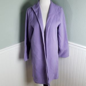 Eileen Fisher Wool and Cashmere Blend Open Duster